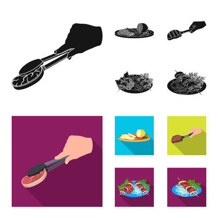 Food and cooking set collection illustration