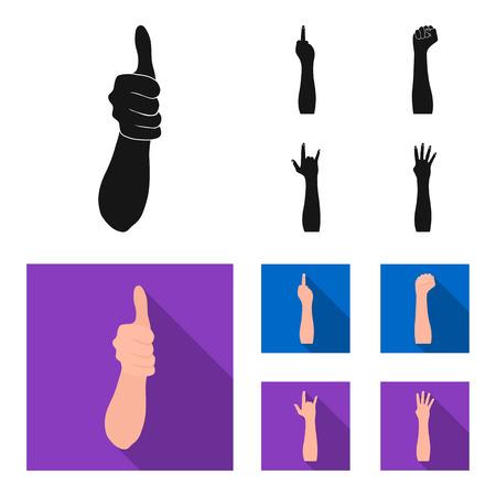 Sign language image illustration