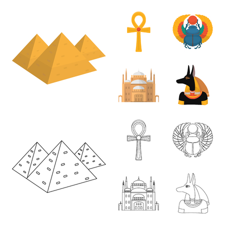 Egypt set collection image illustration