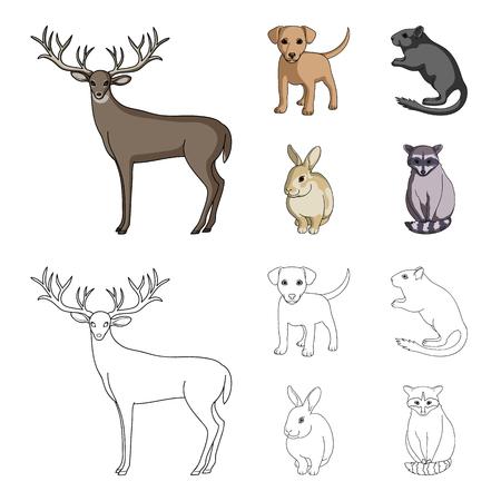 Illustration de collection de jeu d'animaux sauvages