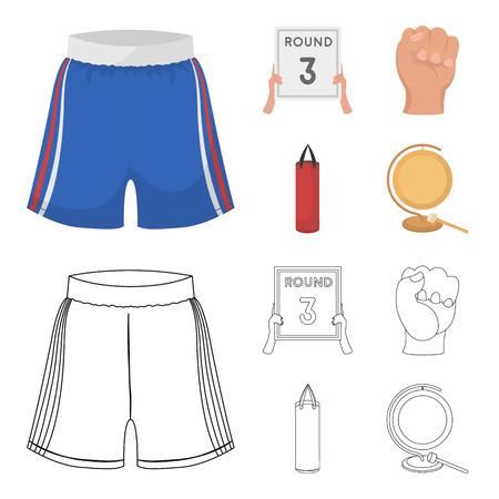 Sports boxing  collection set image illustration