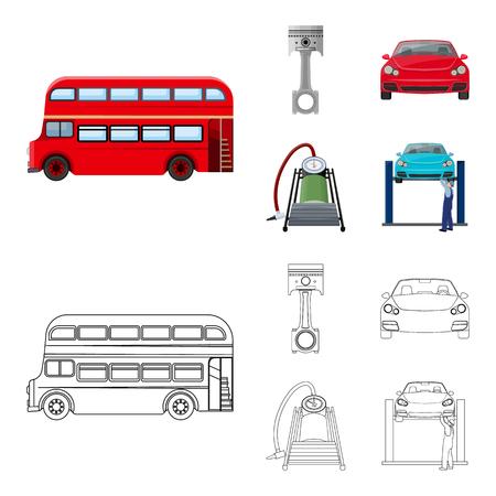 Illustration d'image de station d'entretien automobile