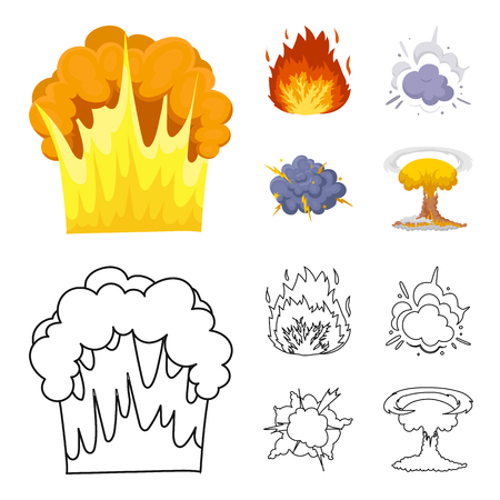 Différentes explosions définissent l'illustration de la collection