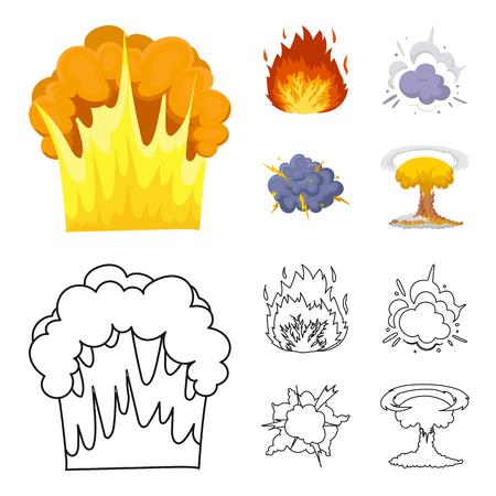 Different explosions set collection illustration Ilustração