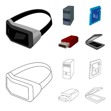 Modern gadgets set collection illustration