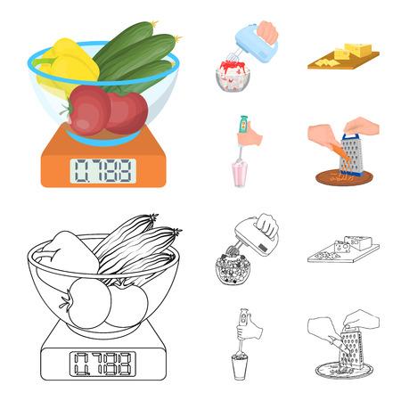 Modern gadgets and vegetables ima illustration