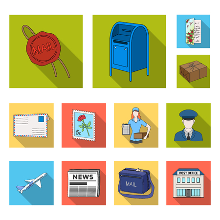 Mail and equipment image illustration Vettoriali