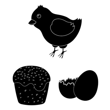 Easter attributes vector symbol stock web illustration. Illustration