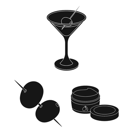 Olive, food black icons in set collection for design.