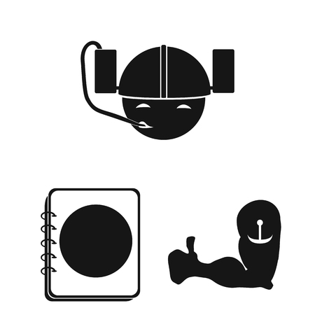 Pub, interior and equipment black icons in set collection for design. Alcohol and food vector symbol stock web illustration.