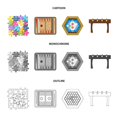 Board game cartoon,outline,monochrome icons in set collection for design.