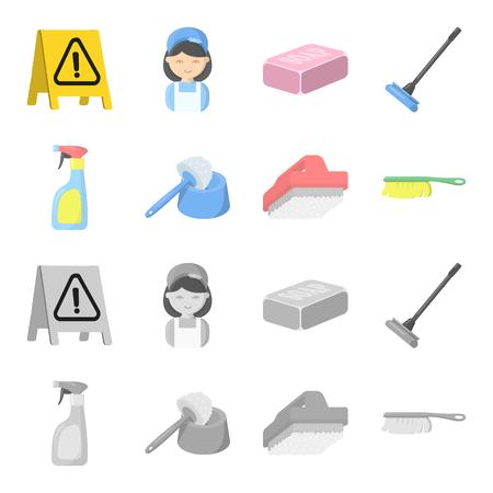 Equipo para la limpieza de ilustración vectorial símbolo stock web.