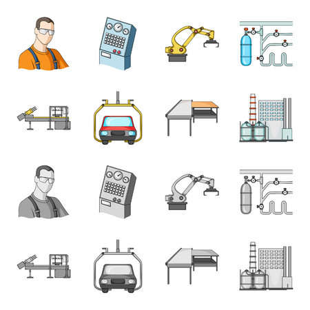 Automotive industry and other web icon in cartoon,monochrome style.New technologies icons in set collection.
