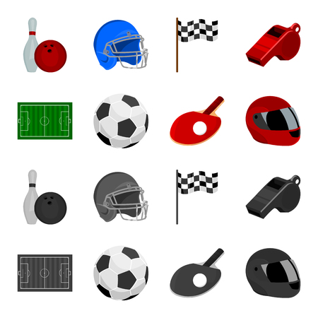 Sport set collection icons in cartoon,monochrome style vector symbol stock illustration web.