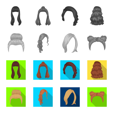 Hairstyle set collection icons