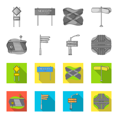 Direction signs and other web icons set collection. Illustration