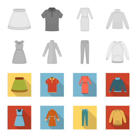 Clothing set collection icons  イラスト・ベクター素材