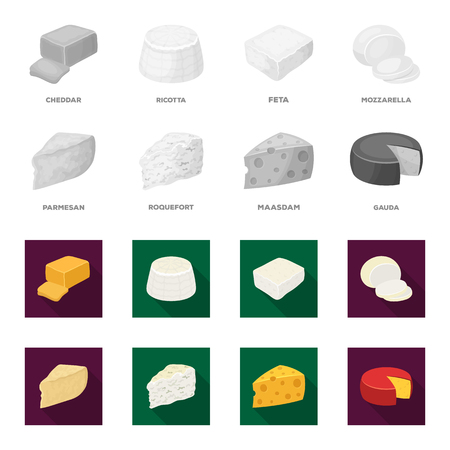 Cheese set collection icons Stock fotó - 98265159