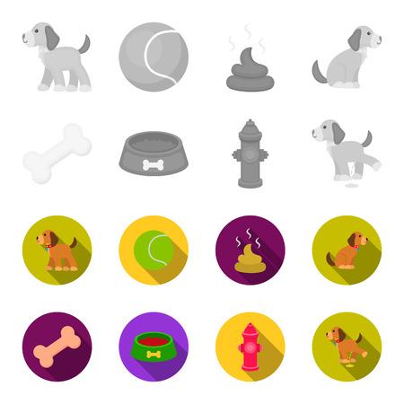 Dog set collection icons Çizim