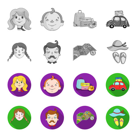 Family and other related symbol stock illustration icons.