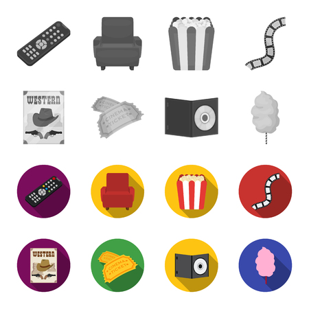 Cinema set collectie iconen Vector Illustratie