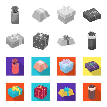 Gift boxes set collection icons.