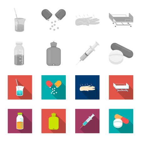 Medicine set collection icons Illustration