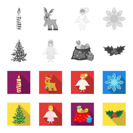 Christmas vector symbols stock web illustration.