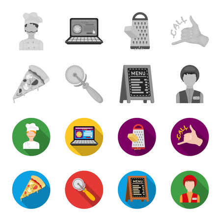 Pizza parlor set collection icons