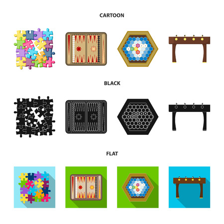 Board game cartoon, black flat icons in set collection for design. Game and entertainment vector symbol stock illustration.