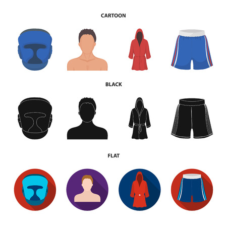 Boxing, sport, mask, helmet.Boxing set collection icons in cartoon,black,flat style vector symbol stock illustration web.