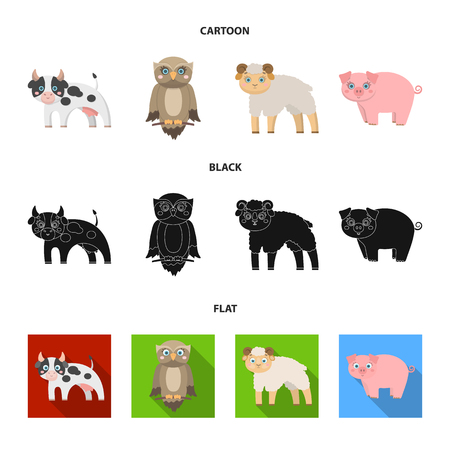 Forest, ecology, toys and other web icon in cartoon, black, flat style. Animals, farm, enterprises icons in set collection. Vettoriali