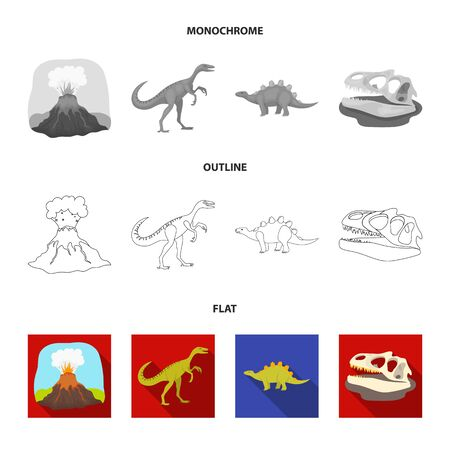 Prehistoric shell, dinosaur eggs, pterodactyl, mammoth.