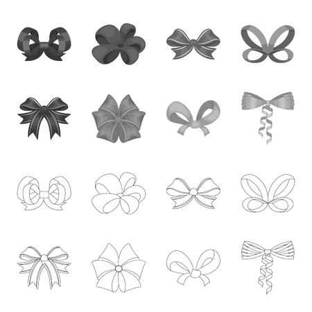 Bow icons in set collection.