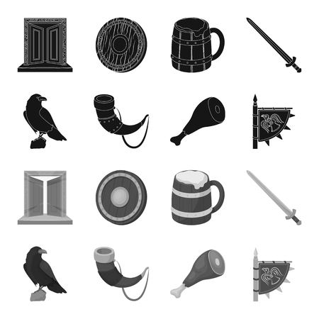 Vikings set collection icons Vettoriali