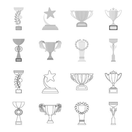Winners cup vector symbol stock web illustration.