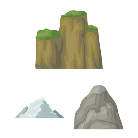 Mountains and landscape vector symbol stock web illustration.  イラスト・ベクター素材