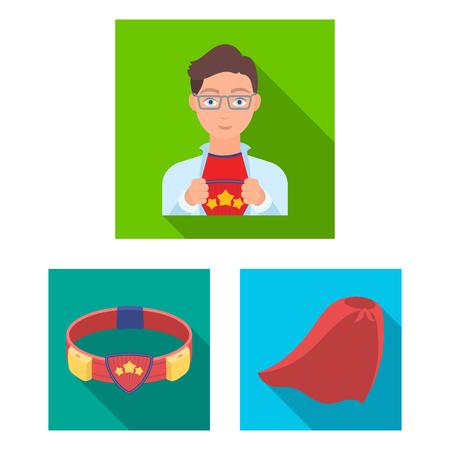 A fantastic superhero flat icons in set collection for design. Superhero equipment vector symbol stock illustration. Stock Vector - 98615774