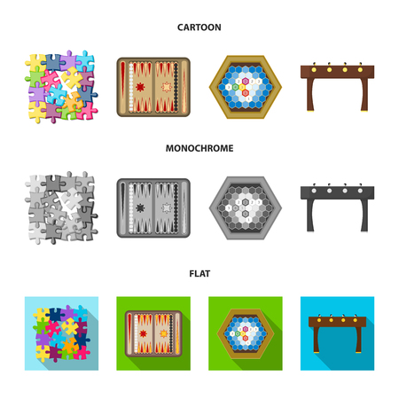 Board game cartoon,flat,monochrome icons in set collection for design. Game and entertainment vector symbol stock  illustration.