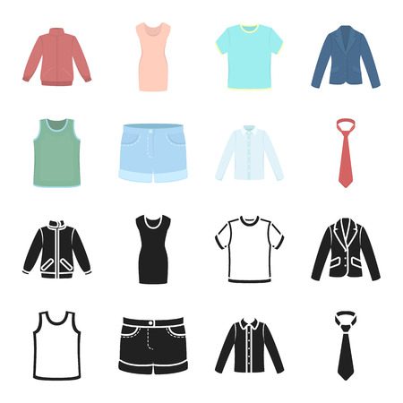 Clothing set collection icons in black,cartoon style vector symbol stock illustration web. Stock Illustratie