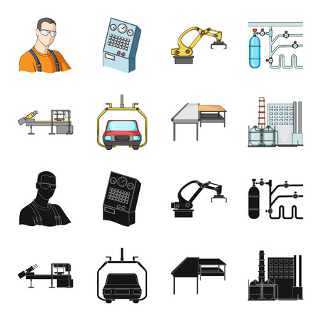 Automotive industry and other web icon in black,cartoon style. New technologies icons in set collection.