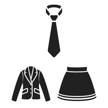 디자인에 대 한 설정된 컬렉션에 옷 블랙 아이콘의 다른 종류. 옷과 스타일 벡터 기호 재고 웹 일러스트 레이 션 스톡 콘텐츠 - 98980513