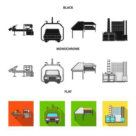Automotive industry and other web icon in black, flat, monochrome style.New technologies icons in set collection. Illustration