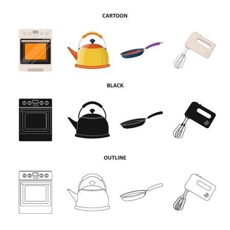 Kitchen and accessories vector symbol stock illustration.  イラスト・ベクター素材