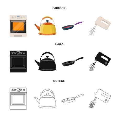 Kitchen and accessories vector symbol stock illustration. Illustration