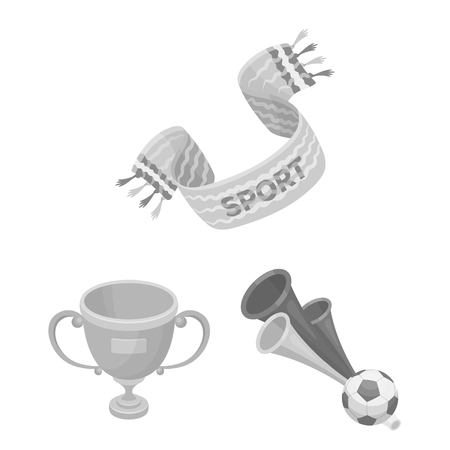 Fan and Attributes monochrome icons in set collection for design.
