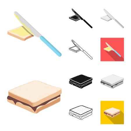 Dessert fragrant cartoon,black,flat,outline icons in set collection for design. Food and sweetness vector symbol stock web illustration. Illustration
