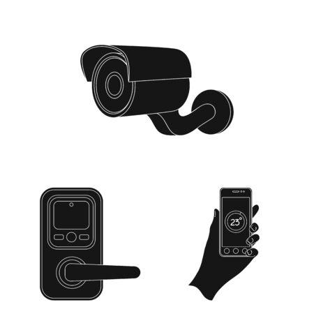 Modern household appliances vector symbol stock illustration.