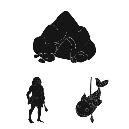 Ancient people vector symbol stock illustration.