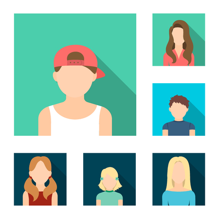 A person appearance vector symbol stock illustration.